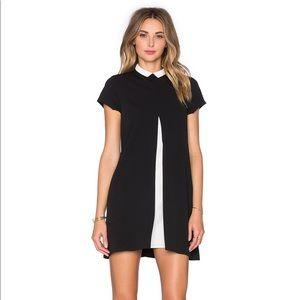 UNIF Dresses - UNIF Merlina Open Front Black & White Dress